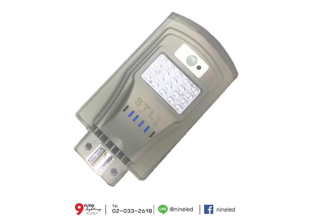 โคมไฟถนนโซล่าเซลล์ 10W SSL10 (วอร์มไวท์)