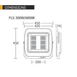 สปอร์ตไลท์ LED 300w BEC