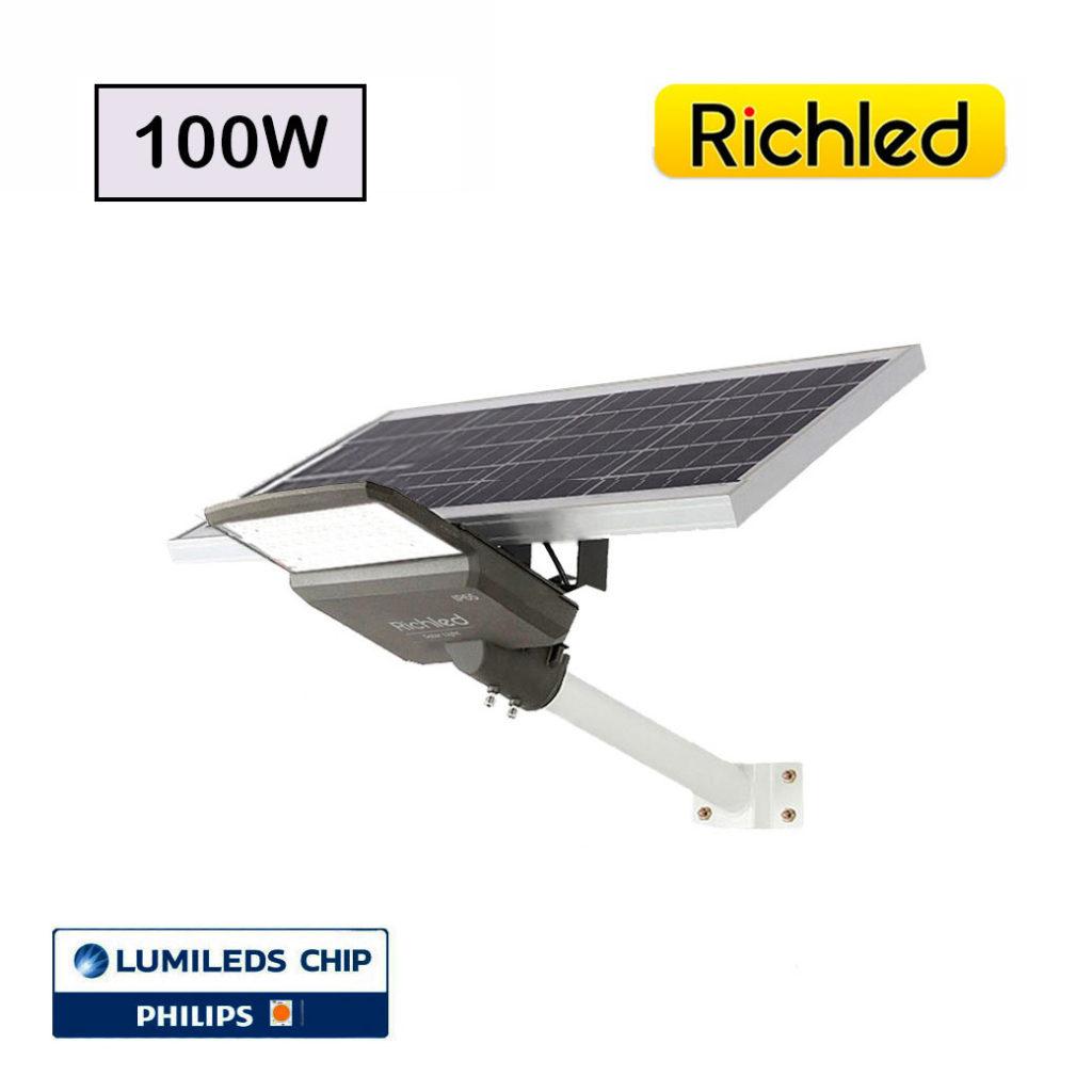 โคมไฟถนนโซล่าเซลล์ LED 100W RICHLED รุ่น PRO