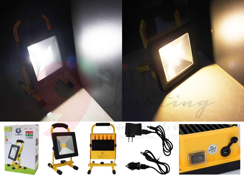 อุปกรณ์รวม สปอร์ตไลท์พกพา เทียบแสง