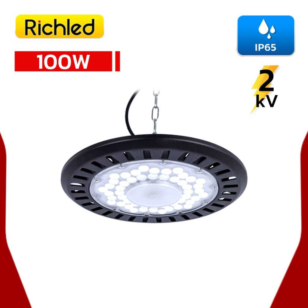 โคมไฮเบย์ LED 100w RICHLED UFO AIR SERIES