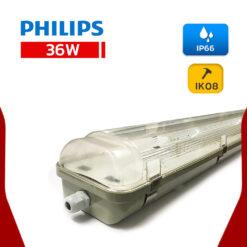 โคมกันน้ำกันฝุ่น 36W TCW097 2x36W Philips