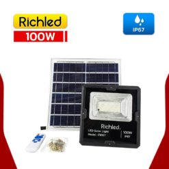 สปอร์ตไลท์โซล่าเซลล์ LED 100W RICHLED FIRST